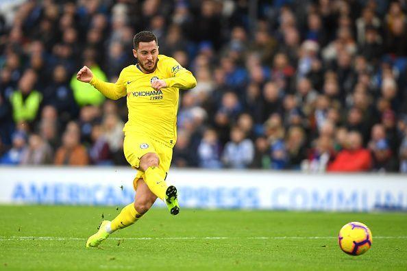 Brighton & Hove Albion v Chelsea FC -Hazard converting 2nd goal (Chelsea 2-0 Brighton)