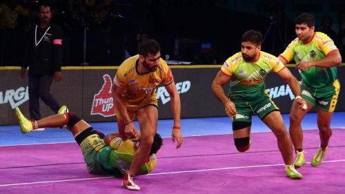 Rahul Chaudhari was in fine form as he picked up 13 raid points