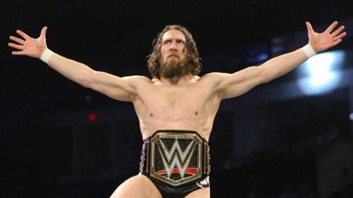 WWE Champion Daniel Bryan glares at the WWE Universe.