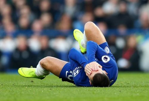 Hazard received harsh treatment from the Leicester players