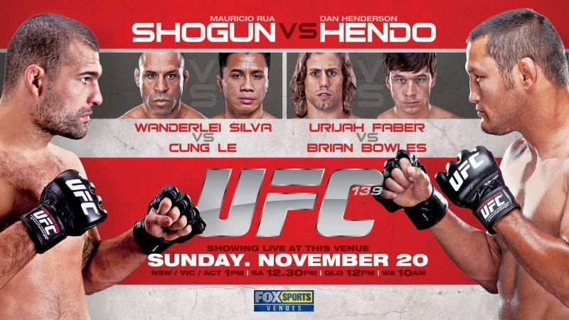 Shogun vs Hendo highlighted the UFC 139 card