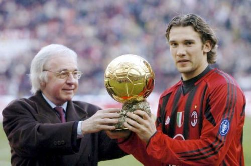 Andriy Shevchenko won the Ballon d'Or in 2004