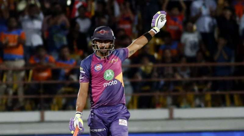 Tiwary in action for Rising Pune Supergiant