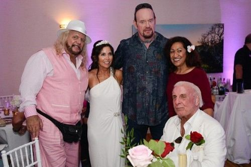 Ric Flair got married for the 5th time to longtime partner Wendy Barlow in September