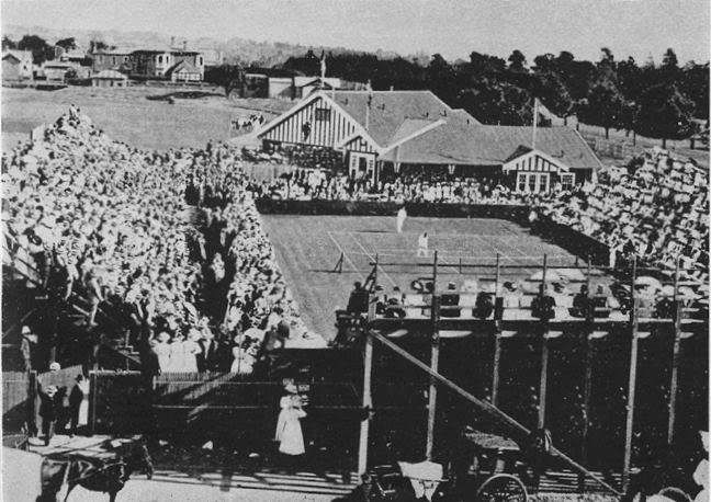 The first Australian Open in 1905 was played on a cricket field