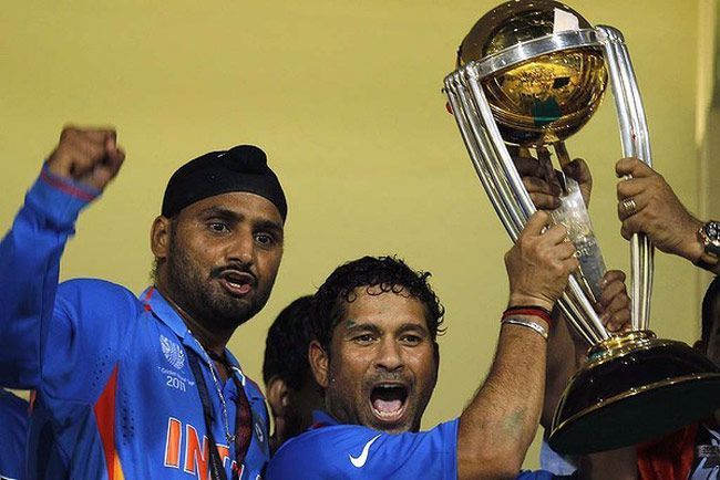 Image result for harbhajan singh with world cup