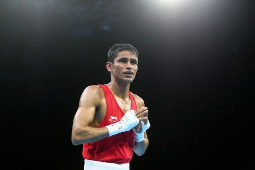 Amit Panghal, Gaurav Solanki, Mandeep Jangra, Sachin Siwach, Shiva Thapa and Gaurav Bidhuri are among the 50-odd boxers selected for the elite men's camp