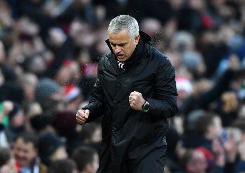 Mourinho during Manchester United v Fulham FC - Premier League