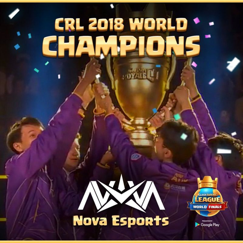 Clash Royale: Nova eSports crowned CRL World Finals 2018 champions