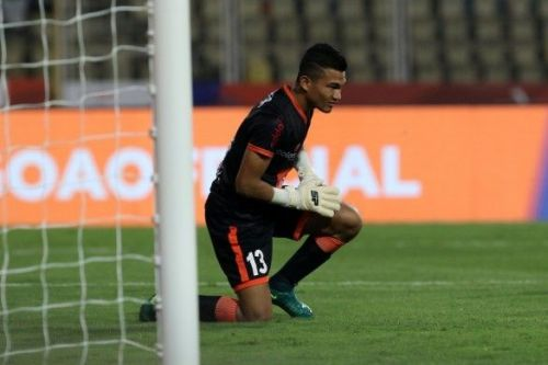The 18-year-old was terrific in between the sticks despite letting in 2 goals [Image: ISL]