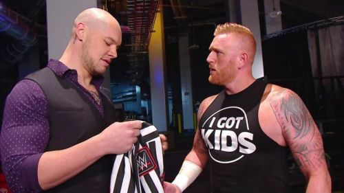Baron Corbin demoted Heath Slater to the role of a referee