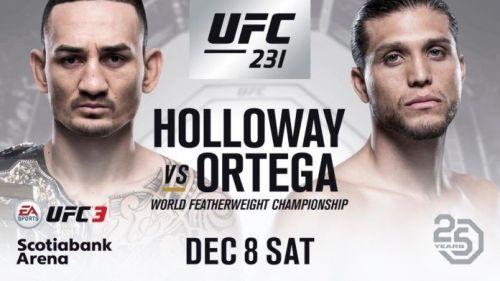 UFC 231: Holloway vs Ortega