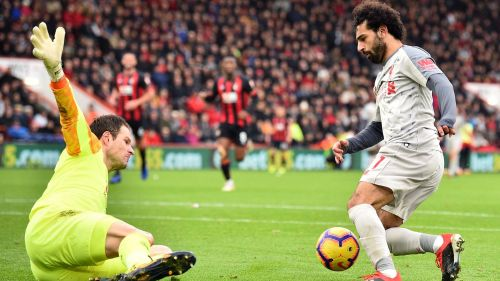 Salah scored a hat-trick against Bournemouth