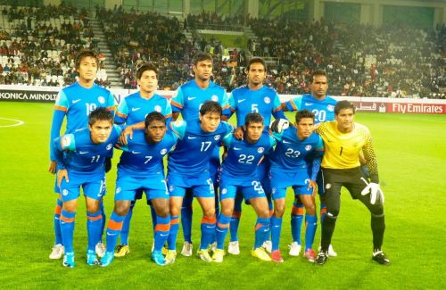 The Indian football team that participated in the 2011 AFC Asian Cup