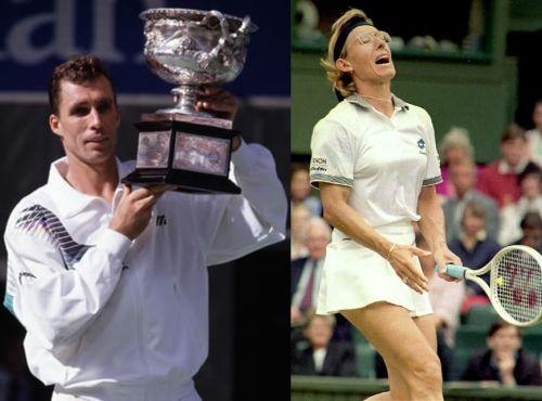 Ivan Lendl (L) and Martina Navratilova (R)