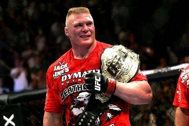 Brock Lesnar as UFC heavyweight champion.