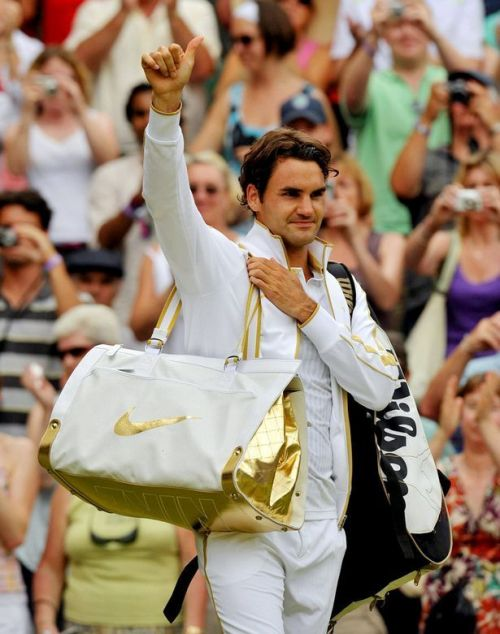 Federer's Gold overcoat