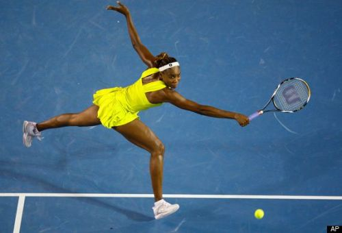 2010 Australian Open, Venus Williams dresses in a risqueoutfit