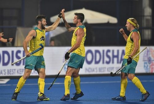 Australia surged to a clinical victory and booked a place in the semifinals