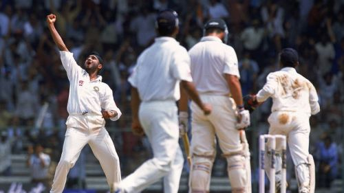 harbhajan celebrating famous win over aussies