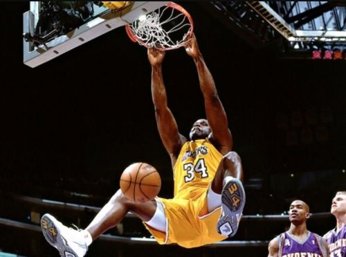 Shaquille O'Neal with a Slam Dunk