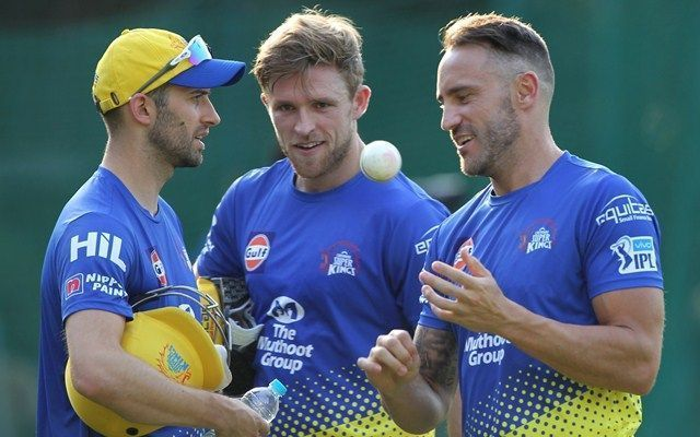 Faf Du Plessis has been associated with CSK since 2012