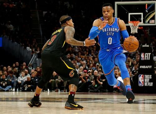 Thomas guarding Westbrook last season