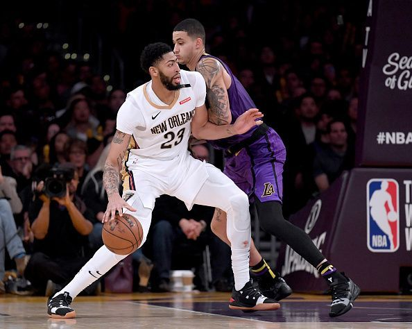 Action from New Orleans Pelicans v Los Angeles Lakers