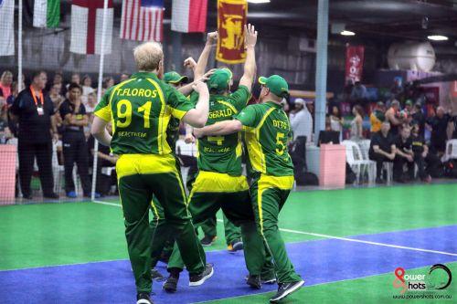 Otto celebrates with his Australian team-mates (Image Courtesy: Powershots Photography)