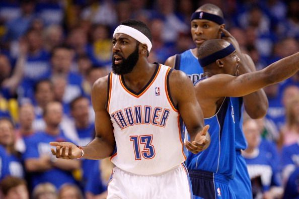 James Harden appeared from the bench during his three years in Oklahoma City Thunder