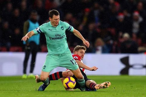 With Hector Bellerin out of the clash against Brighton, Lichtsteiner is likely going to be given a nod