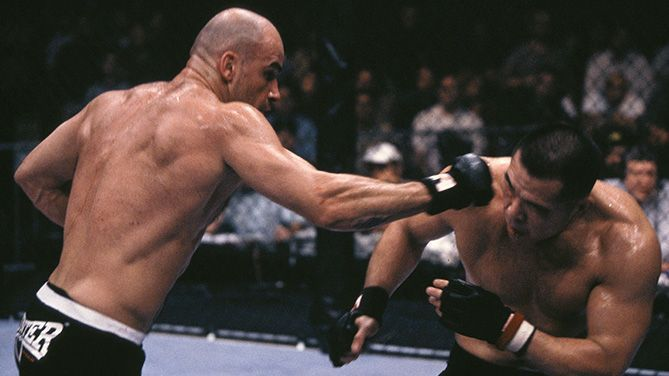 Bas Rutten won a shot at the Heavyweight title at UFC 18