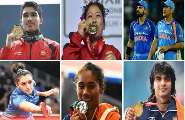Some of the best sportspersons for India in 2018