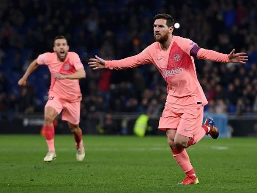 Messi registered two well taken free kicks, and a fine assist against Espanyol