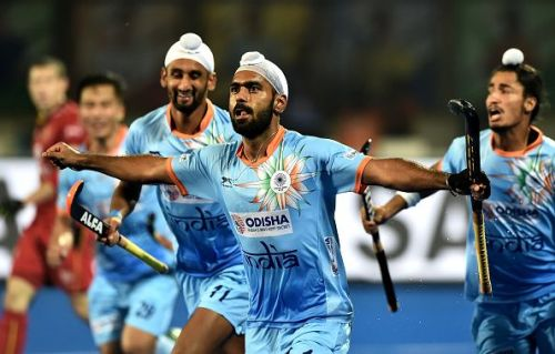 Simranjeet Singh's sterling deflection propelled India to a 2-1 lead