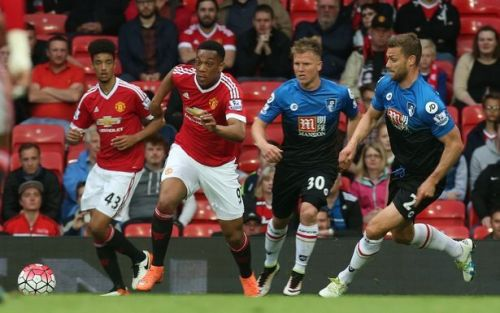 Manchester United leads AFC Bournemouth 5-1 head-to-head in the Premier League