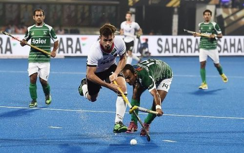 Germany and Pakistan were embroiled in a thrilling contest at the Kalinga Stadium