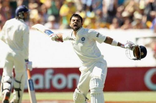 Kohli hit his maiden century in tests