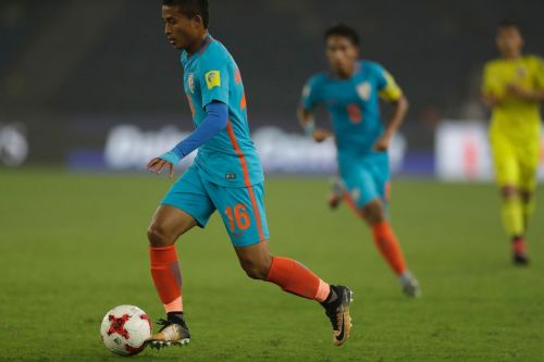 Nongdamba Naorem, representing India in the U-17 World Cup (Image: Facebook)