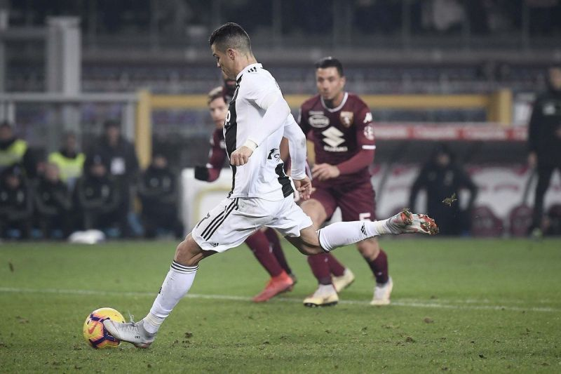 3085974b1 Cristiano Ronaldo scored from the penalty as Juventus beat Torino 1-0