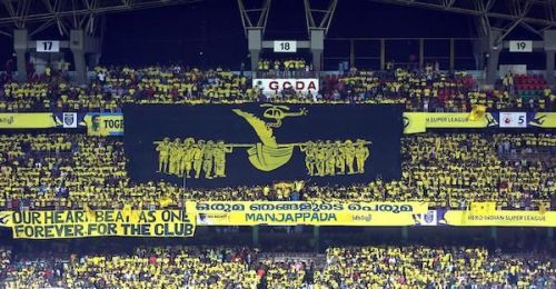 The Kerala Blasters fans' tribute to their heroes during the state's worst floods