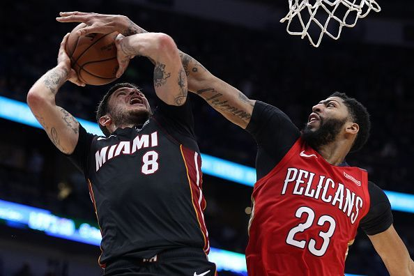 Action from Miami Heat v New Orleans Pelicans