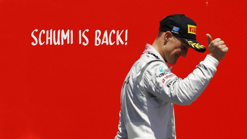 Michael Schumacher announces his comeback to F1 after three years