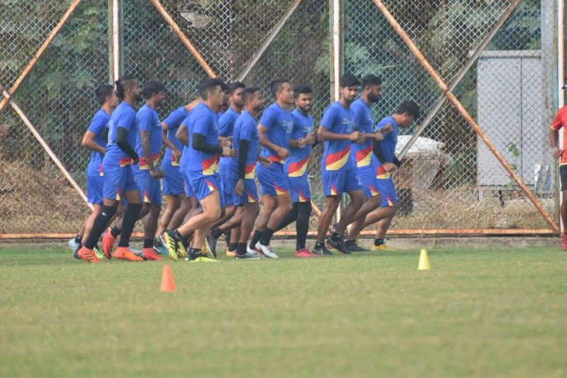 East Bengal players in training