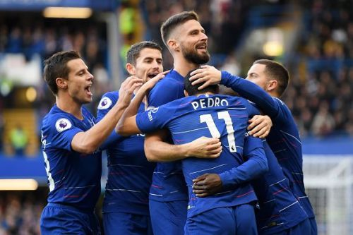 Goals from Pedro and Ruben Loftus-Cheek got Maurizio Sarri's Chelsea back to winning ways as they piled further misery on Fulham with a 2-0 home victory