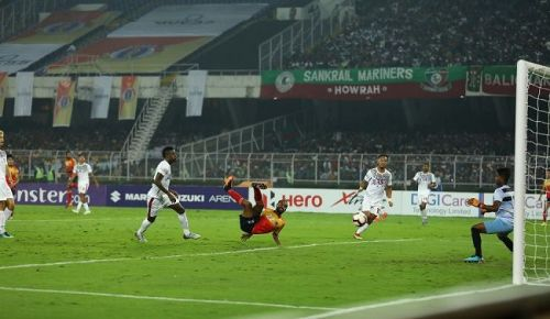 Jobby Justin's goal gave East Bengal the lead in the Kolkata Derby [Image: I-League]