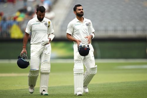 Pujara and Kohli added 170 runs for the 3rd wicket