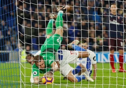 Leno could have done better in preventing Brighton's goal