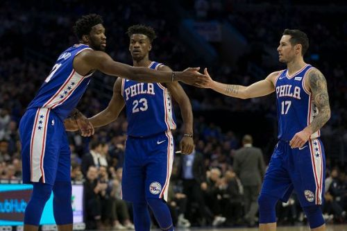 The Philadelphia 76ers had an easy win over the New York Knicks in a matchup between the two Atlantic Division rivals