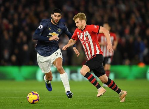 Fellaini's challenge on Redmond was too loose when Southampton scored their first